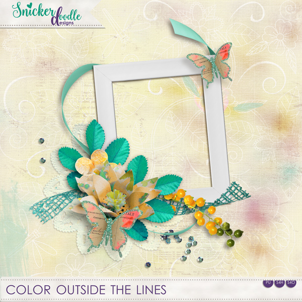 Color Outside the Lines Freebie SnickerdoodleDesigns