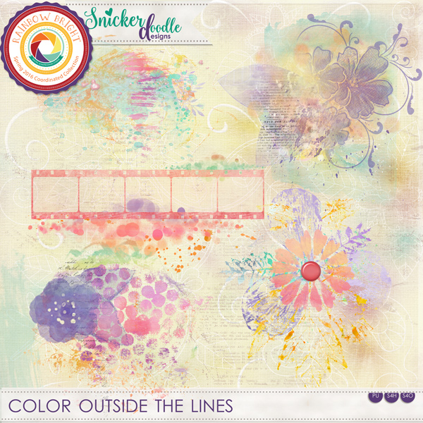 Color Outside the Lines SnickerdoodleDesigns