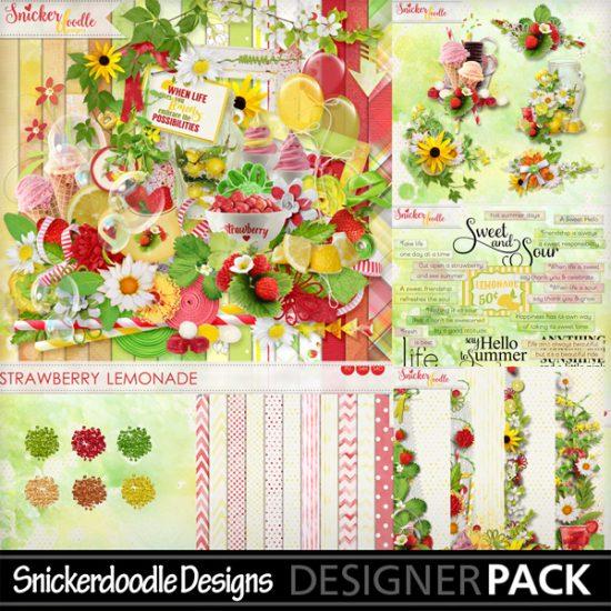Strawberry Lemonade MyMemories SnickerdoodleDesigns