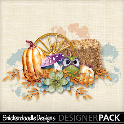 Painted Autumn Cluster Freebie SnickerdoodleDesigns