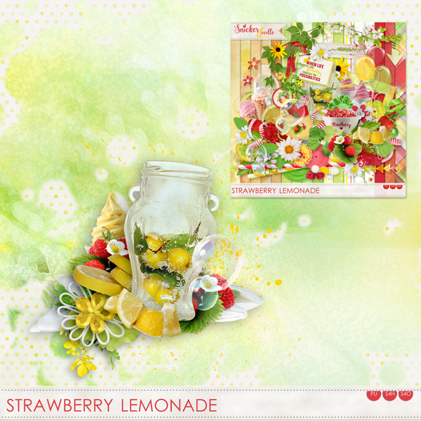 Strawberry Lemonade Freebie SnickerdoodleDesigns
