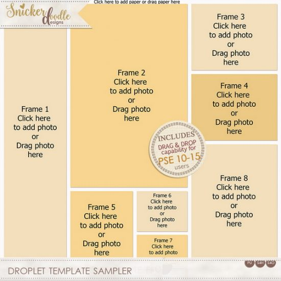 Drag and Drop TEmplates SnickerdoodleDesigns Photoshop Elements Freebie
