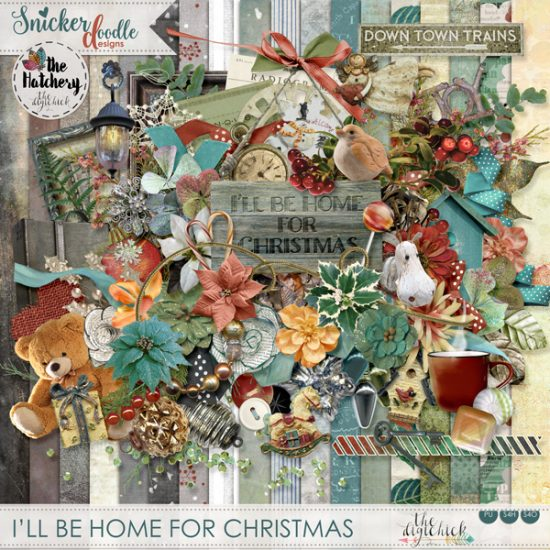 I'll be Home for Christmas SnickerdoodleDesigns