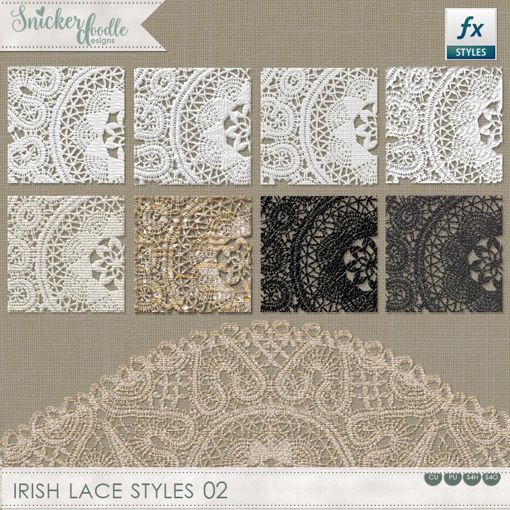 Irish Lace Styles SnickerdoodleDesigns