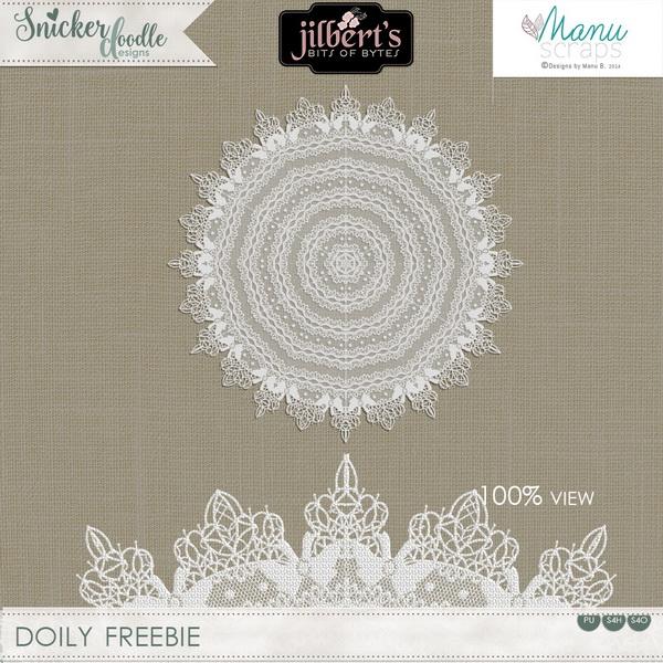 Irish Lace Doily Freebie SnickerdoodleDesigns