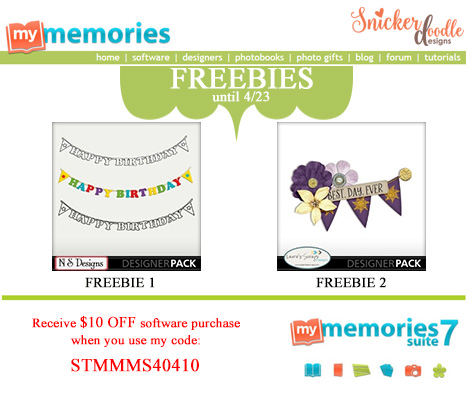 Freebie SnickerdoodleDesigns My Memories