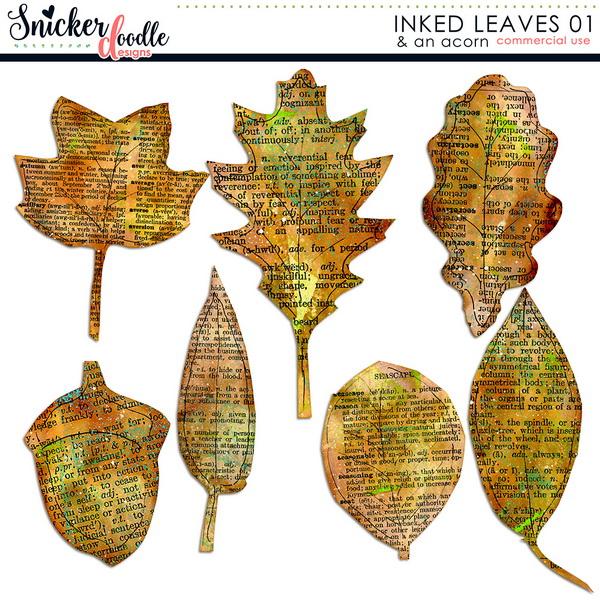 Inked Leaves SnickerdoodleDesigns