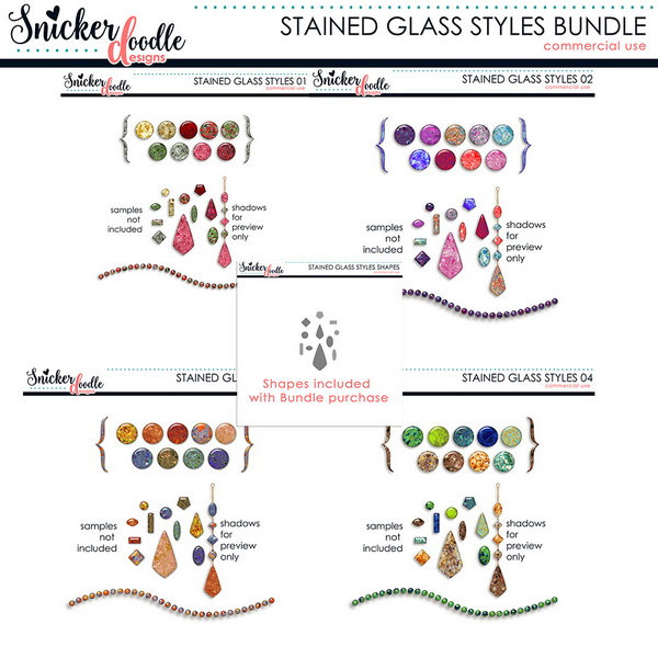 SnickerdoodleDesigns Stained Glass Photoshop Styles