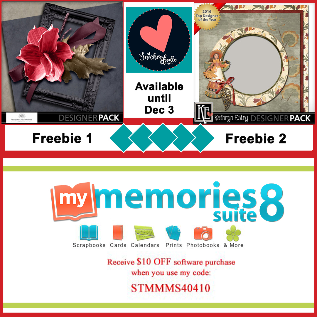 MyMemories digital scrapbooking freebie Snickerdoodledesigns