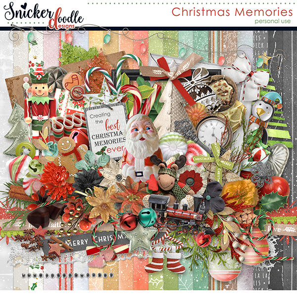 Christmas Memories digital scrapbooking SnickerdoodleDesigns