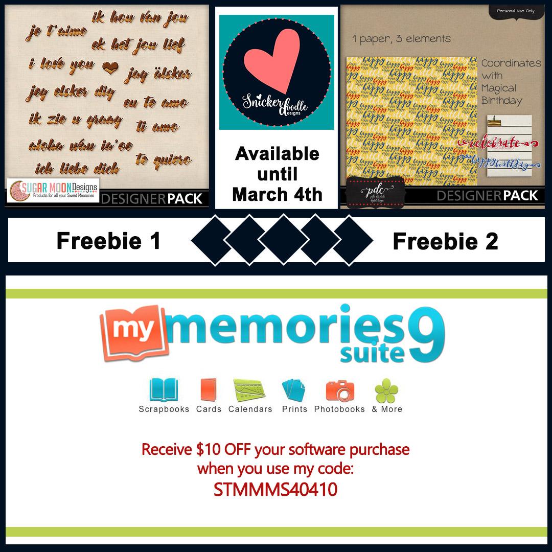 Mymemories freebie digital scrapbpoking SnickerdoodleDesigns