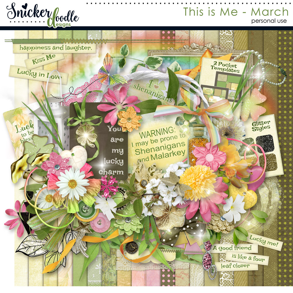 This is Me digital scrapbooking kit SnickerdoodleDesigns