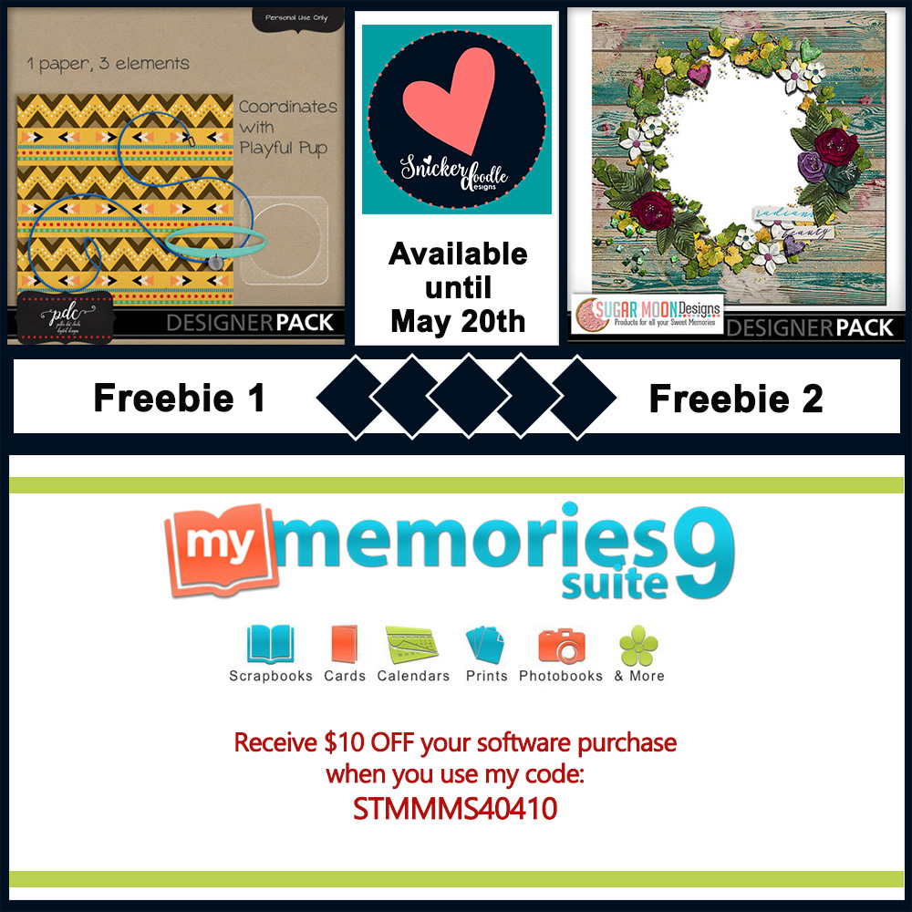 MyMemories digital scrapbooking freebie