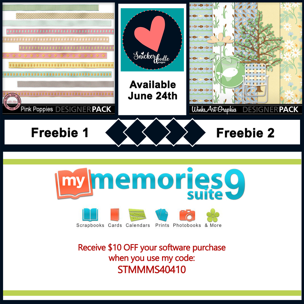 MyMemories digital scrapbooking freebie june 24th