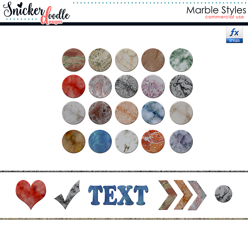 Marble Styles SnickerdoodleDesigns