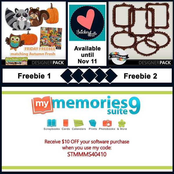 MyMemories digital scrapbooking freebies Snickerdoodle Designs