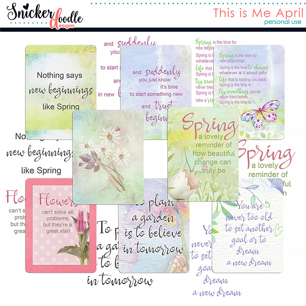 This is Me April Snickerdoodle Designs