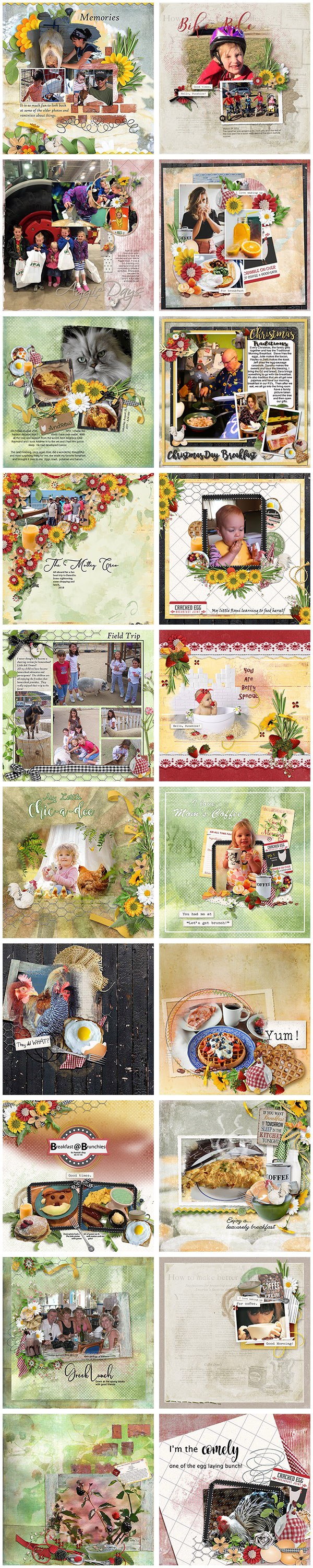 Cracked Egg by Snickerdoodle Designs Layouts