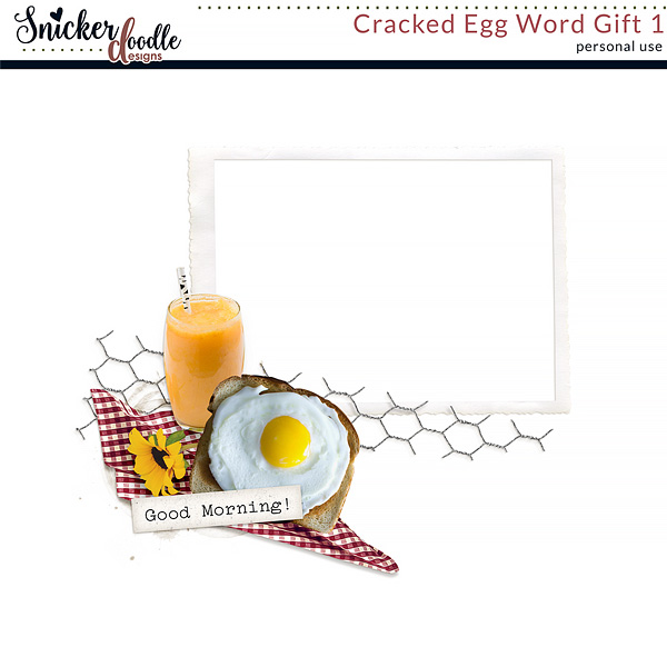 Cracked Egg by Snickerdoodle Designs  Digital scrapbooking Freebie