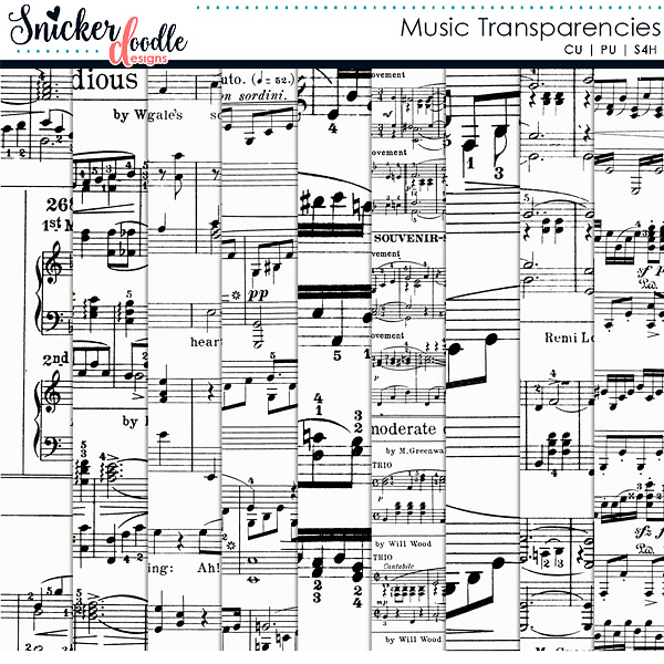 Music Transparencies by Snickerdoodle Designs