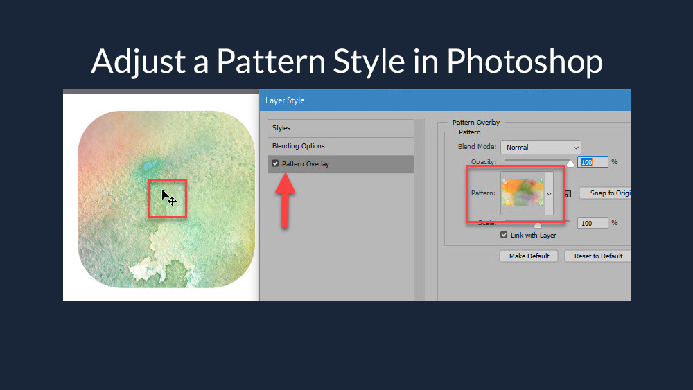 How to Reposition a Photoshop Layer Style Pattern