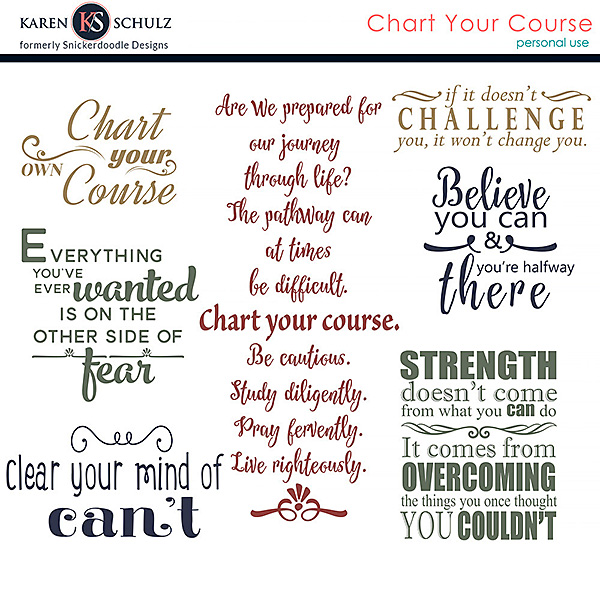 Chart Your Course Word Art