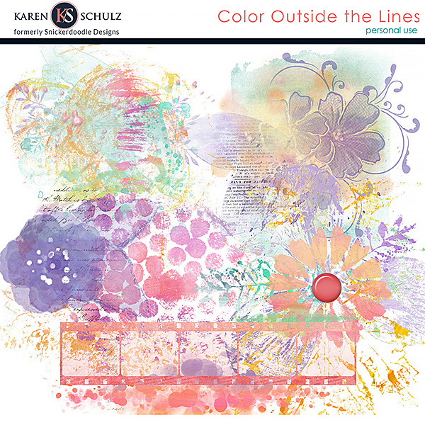 Color Outside the Lines Accents