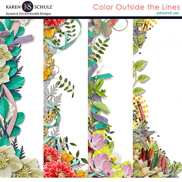 Color Outside the Lines Borders
