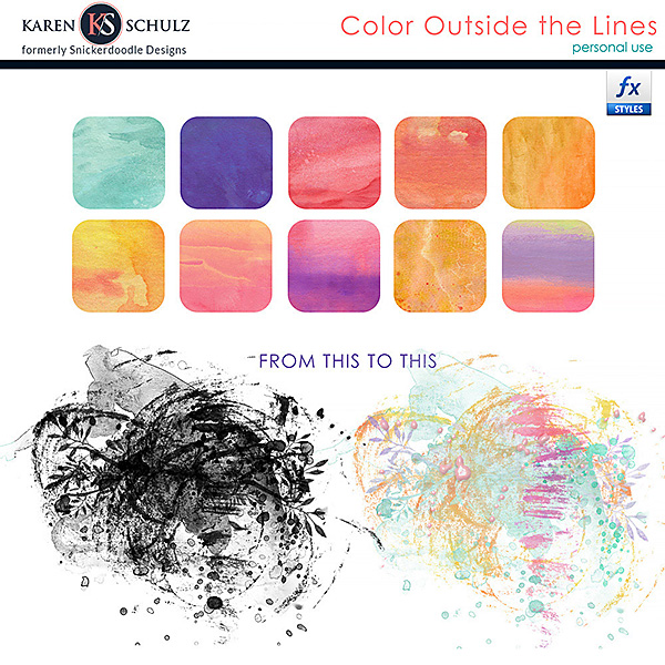Color Outside the Lines Styles