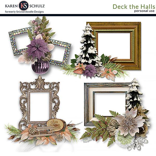 Deck the Halls Cluster Frames