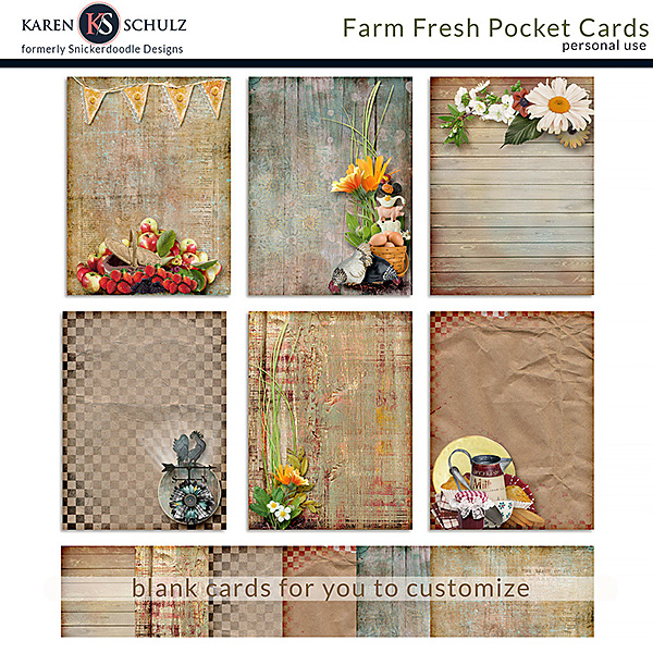 Farm Fresh Journal Cards