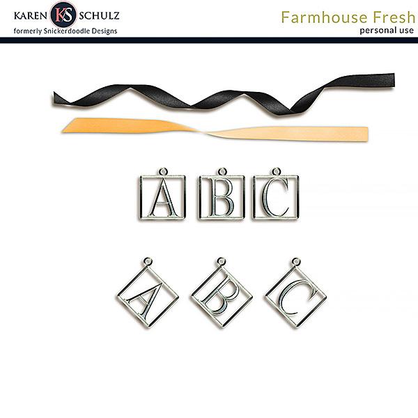 Farmhouse Fresh Alpha Charms
