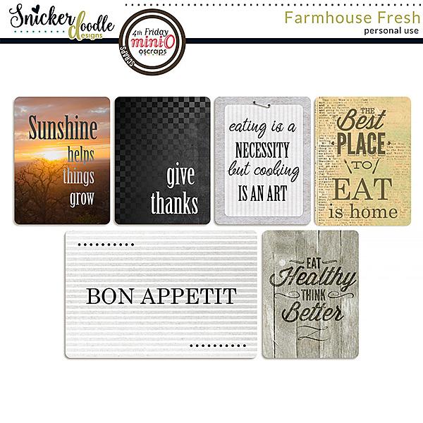 Farmhouse Fresh Pocket Cards
