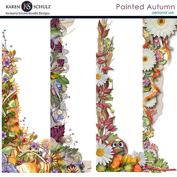 Painted Autumn Borders