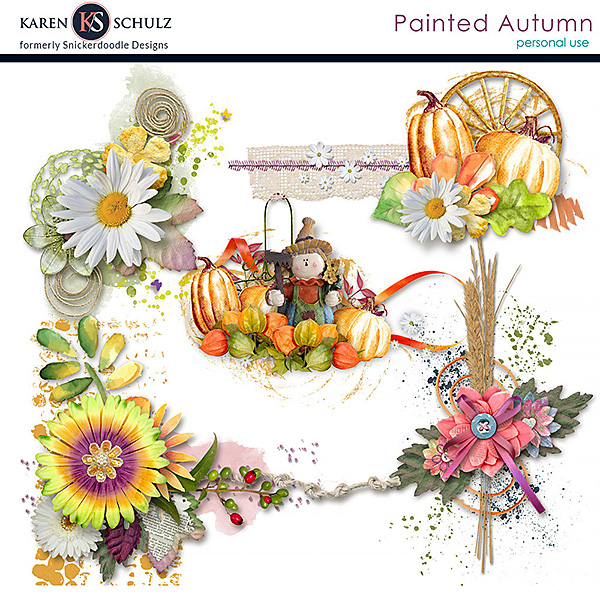 Painted Autumn Clusters