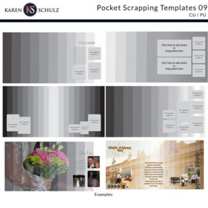 Pocket Scrapping TEmplate 09