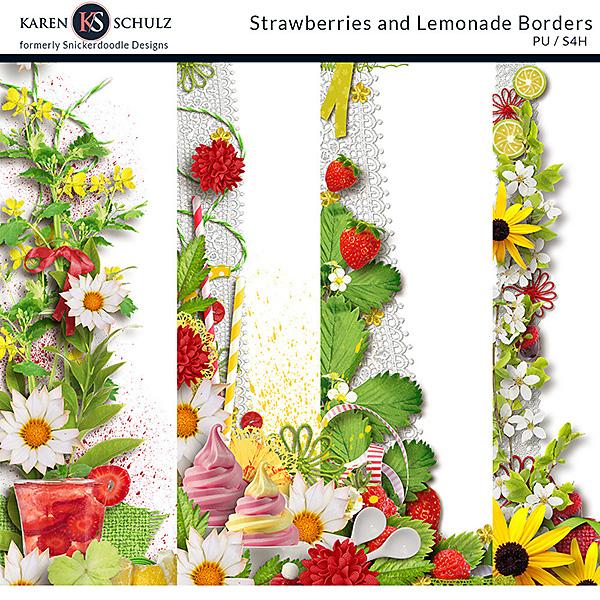 Strawberry Lemonade Borders