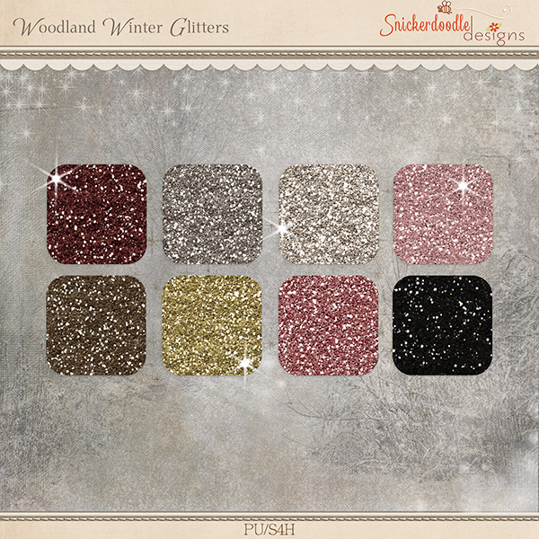 Woodland Winter Glitter
