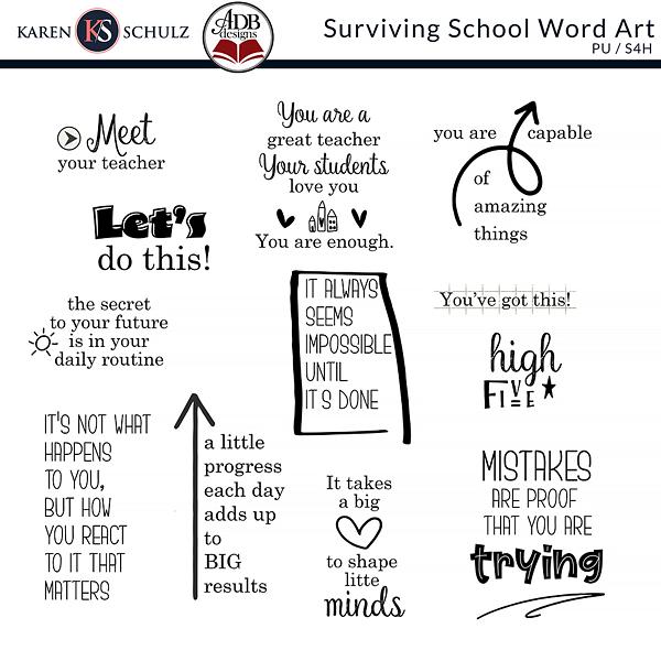Surviving-School-Word-Art-Karen-Schulz