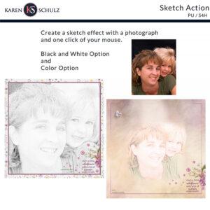 Sketch Effect Action by Karen Schulz