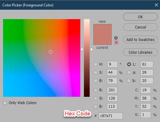 Choosing a Color Outside Photoshop