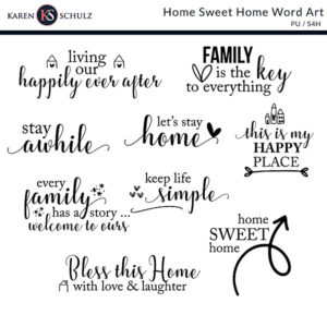 Home Sweet Home Word Art PV