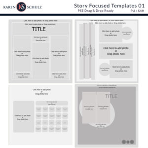 Story Focused Digital Scrapbook Page Templates