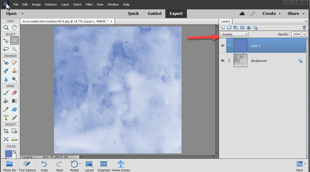 Watercolor Look Made Easy with Photoshop Textures
