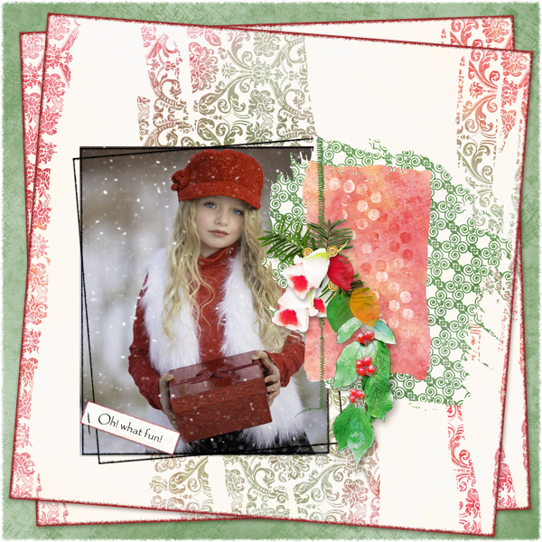 Touch of Christmas Layout 6