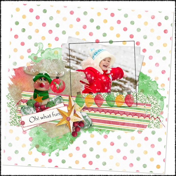 Touch of Christmas Layout 3