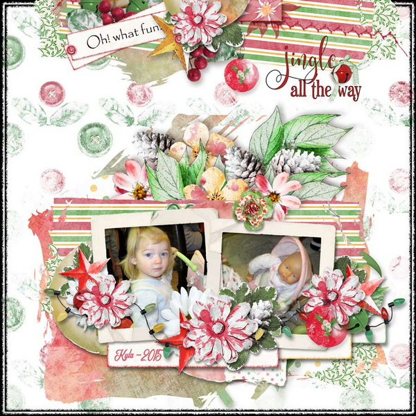 Touch of Christmas Layout 2