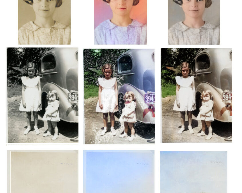 Change a Black and White Photo to Color with Photoshop Elements