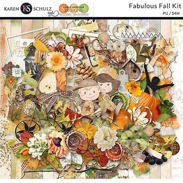 Meet Fabulous Fall, a Digital Scrapbook Collection